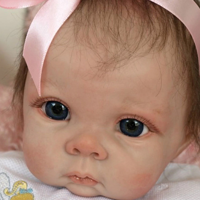 22inch Cute Blank Reborn Baby Doll Kit DIY Toy With Body Eyes Soft Vinyl Realistic Accessories Gift Unfinished Unpainted 4