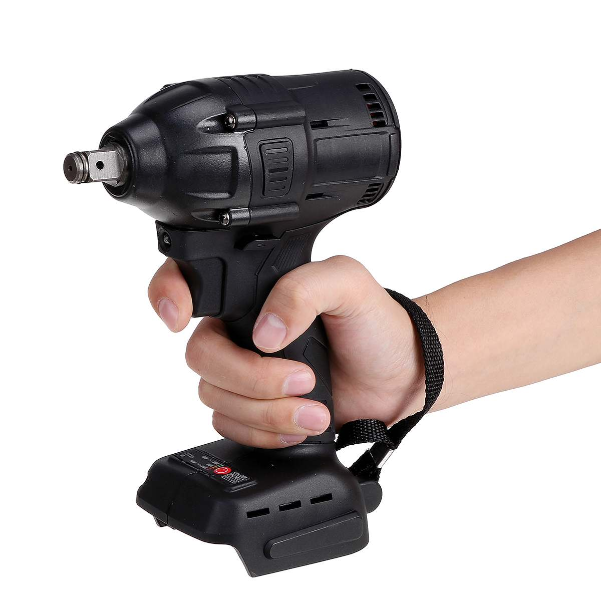 Doersupp 18V 500W 630N m  Li-Ion Cordless Impact Wrench Driver 1 2 Electric Wrench Replacement for Makita 18V Battery