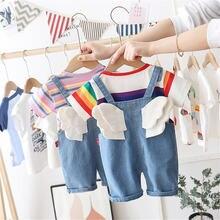 Детская одежда комплект штанов с бандажом в виде крыла ангела