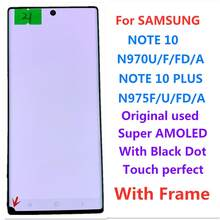Für Samsung note10 n970 note10 plus n975 note10 + lcd touch display screen Original Super AMOLED display touchscreen