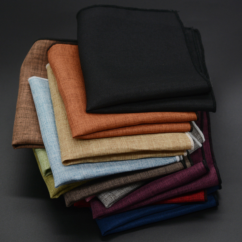 Men's Handkerchief Classic Cotton Pocket Square Male Pocket Towels Hand Towel  Wedding Accessories High Quality
