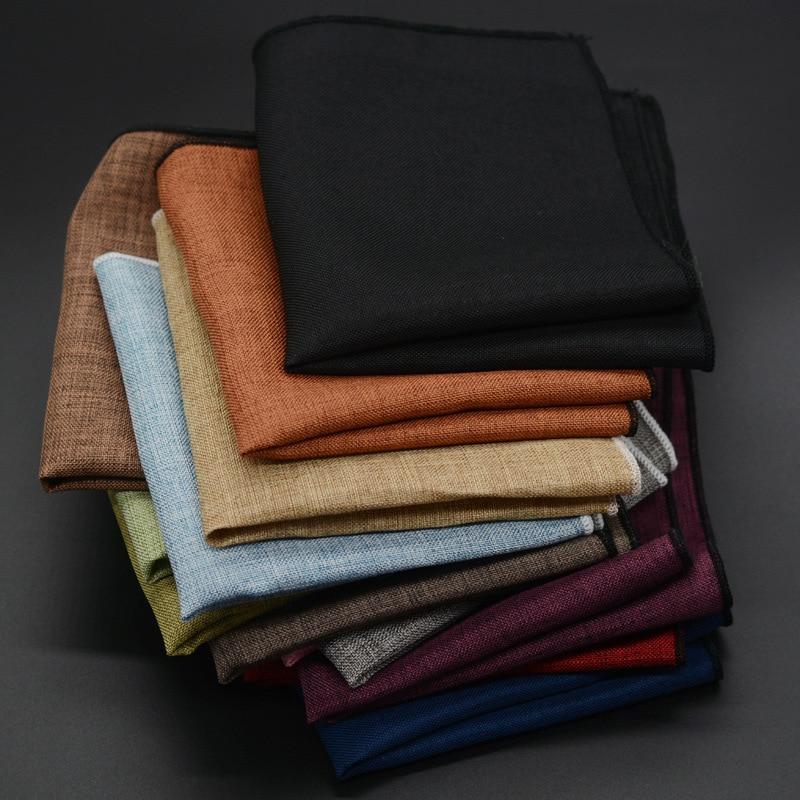 Men's Handkerchief Classic Cotton Pocket Square Male Pocket Towels Hand Towel  Wedding Accessories High Quality