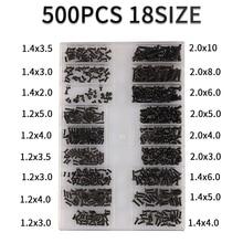 500 шт. 18 типов Мини Винт DIY комплект ноутбук компьютер сборка Ремонт Винт Крепеж Набор