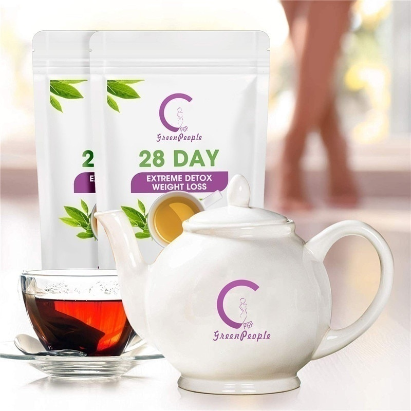 GPGP-Green-People-28-Day-Fat-Burn-Detox-Tea-Teatox-Reduce-Bloating-And-Constipation-Weight-Loss