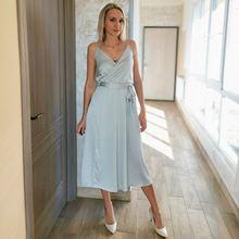 Женское сексуальное платье с тоненькими полосочками пояса миди