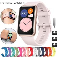Rubber Replacement Strap for Huawei Watch Fit Band Sport Smart Waterproof Wrist Watchband Bracelet Accessories for Huawei Fit