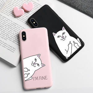 Cat Case For OPPO A9 A5 2020 Case Silicon OPPO A1k K1 K3 F11 Pro F9 F7 A9 A83 A79 A71 A7 A5S A59 A3s A39 A57 A37 A33 A3 Covers(China)