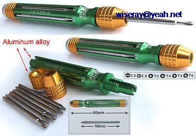 DHL/EMS  20pcs Aluminum Alloy 6 In 1 Multifunction Tool Kit Set Straight Screwdriver T3 T4 T5 -A8