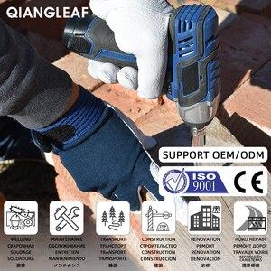 Image 2 - Qiangleaf 3 pçs venda quente d grau luvas de couro luvas de trabalho de segurança resistente ao desgaste luvas de trabalho masculino mitten frete grátis 508