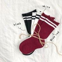 Детские носки для мальчиков и девочек новые детские носки на осень и зиму хлопковые носки с параллельными полосками носки для малышей удобные для От 1 до 10 лет