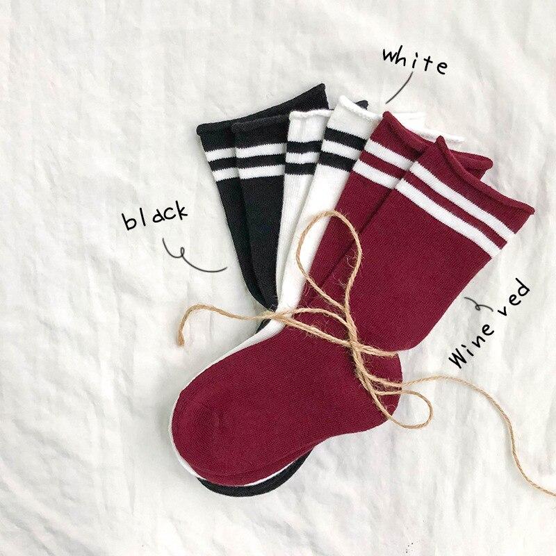 Kids Socks  Boys Girls Socks Autumn Winter New Children's Socks Cotton Parallel Bars  Socks Baby Socks Comfortable For 1-10Y