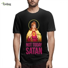 Latest Boy RuPaul Not Today Satan Not Today T Shirt Crazy Unique Design Round Neck For Boy Tee shirt цена и фото