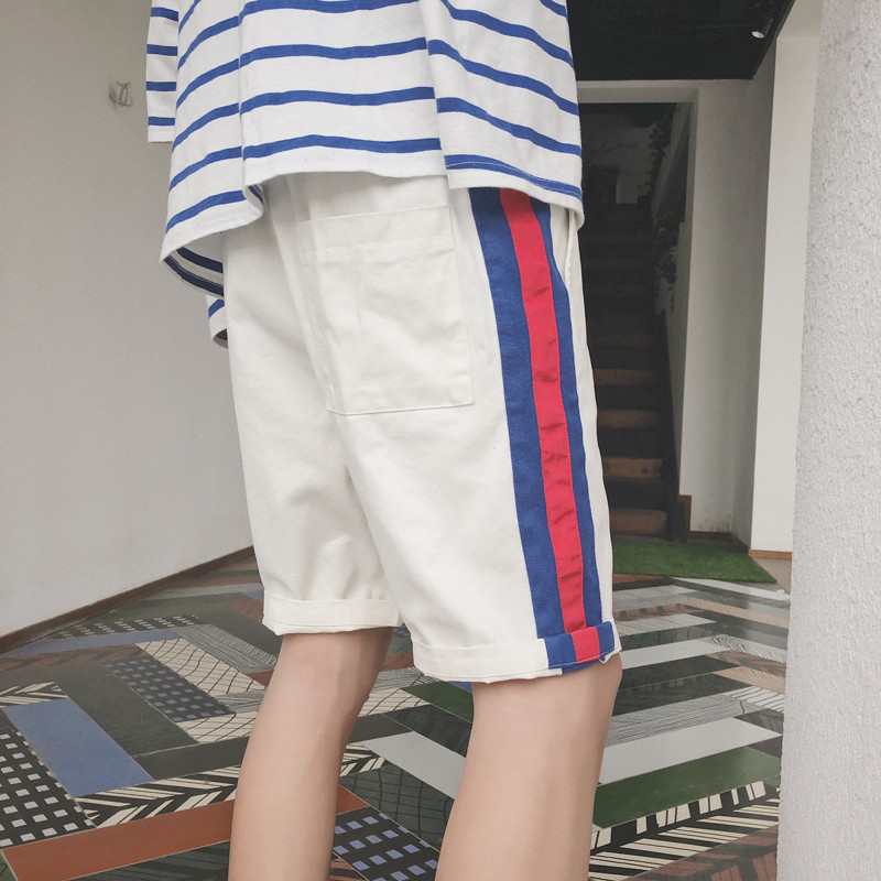 Men Korean-style Trend Short Casual Pants Thin Loose-Fit Shorts 2018 Summer Students Handsome Beach Pants