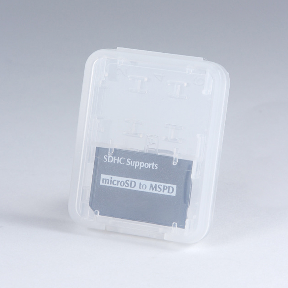 8 In 1 Plastic Micro Double-Layers Plastic Micro For SD SDHC TF MS Memory Card Storage Hard Case Box Protector