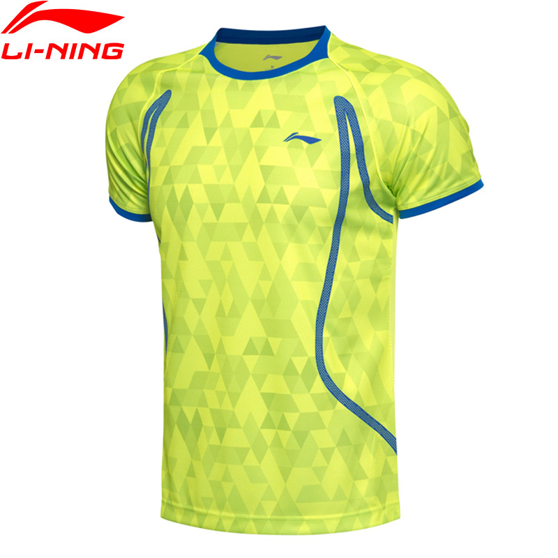 (Break Code)-Ning Men AT DRY Badminton Shirts Breathable T-Shirts Competition Comfort Li Ning LiNing Sports Tee AAYM001 MTS2672