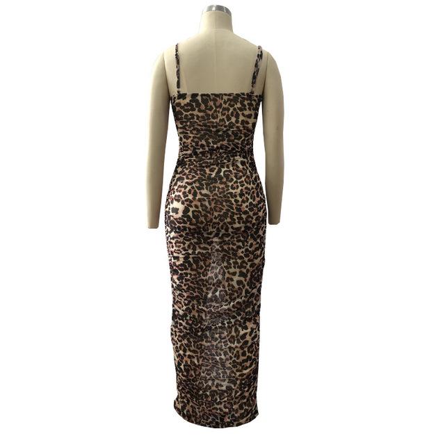 Long bodycon snake print maxi dress