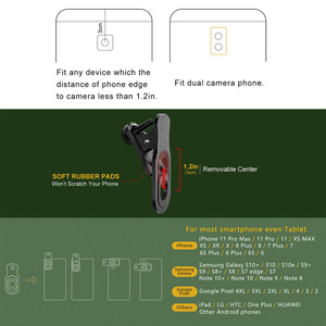 Image 5 - 18X Zoom Telephoto Lens with Travel Case Aluminum HD Monocular Telescope Phone Camera Lens for iPhone Samsung Smartphone Mobile