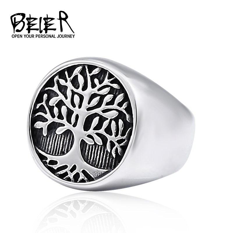 Beier Viking 316l nariz de acero inoxidable vikingo Árbol de la vida amuleto de moda y estilo Odin escandinavo para anillo de hombre bisutería LR708 Relojes BOBOBIRD para mujer, diseño cuadrado de madera, elegante reloj de pulsera para mujer, regalos geniales para niñas, reloj de mujer, Dropship C-eS02