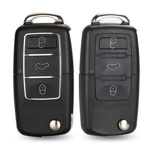 jingyuqin 3 Buttons Remote Car Key Flip Folding Key Shell Case For Volkswagen Vw Jetta Golf Passat Beetle Skoda Seat Polo B5