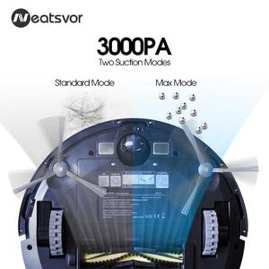 Image 2 - NEATSVOR X500 로봇 진공 청소기 3000PA Poweful 흡입 3in1 애완 동물 헤어 홈 건식 습식 청소 로봇 자동 충전 진공