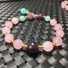Natural Crystal Bracelet Amethyst Tianhe Stone