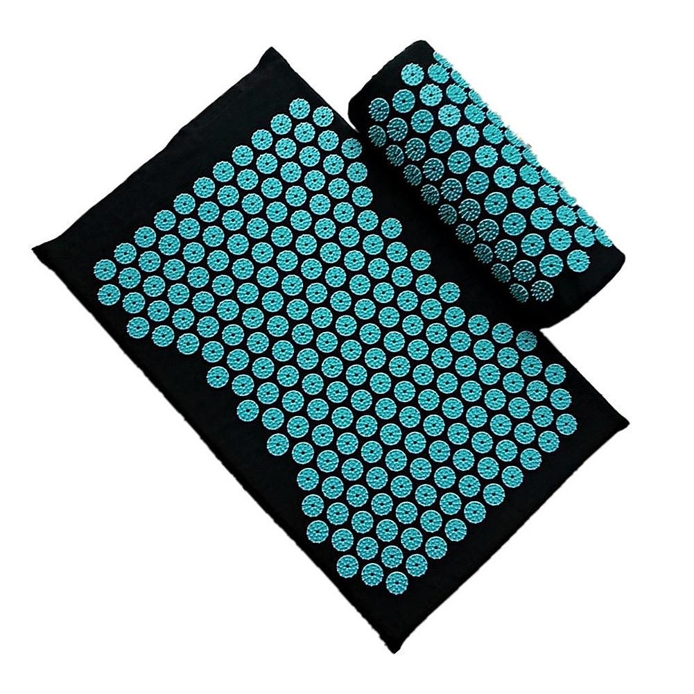 Acupressure Massage Mat including Pillow Sets to Relieve Stress and Back Pain with Spike 2