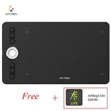 Xp-pen Deco 02 Tablet graficzny do rysowania Tablet piórkowy z P06 bezbateryjny pasywny rysik i klawisze skrótów (8192 poziomów ciśnienia)