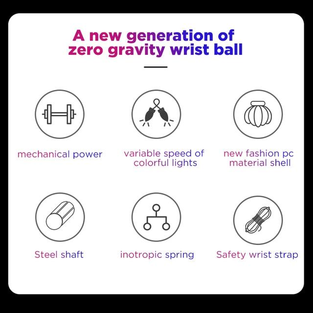 BOOSTER Massage Ball Gyro Wrist Power Ball Trainer Gyroscope Strengthener Arm Exerciser Exercise Machine Gym powerball Fitness 3