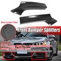 Пара из настоящего углеродного волокна  автомобильный передний бампер  разветвитель  спойлер  диффузор  комплект для тела  защита  подходит ...