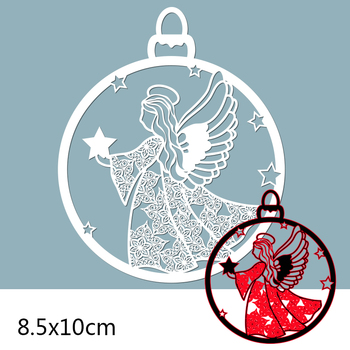85*100mm Angel and Star Cutting Metal Dies for 2020 New Stencils DIY Scrapbooking Paper Cards Craft Making New Craft Decoration sled metal cutting dies new stencils for diy scrapbooking paper cards craft making and craft decoration 61 91mm