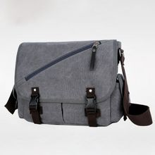 Men Casual Canvas Shoulder Bag Messenger Crossbody Briefcase Travel Casual Tote Satchel Bags