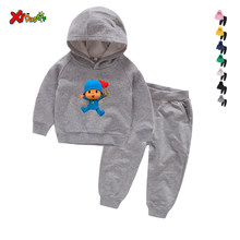 Chándal de otoño para niños pequeños, ropa de moda para niños y niñas, camiseta con capucha y pantalones, trajes de 2 uds.