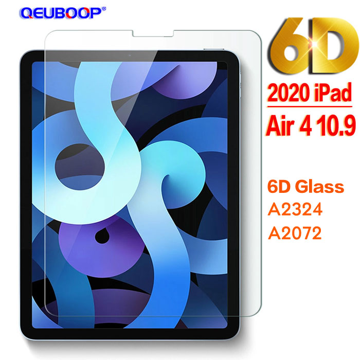 6D Glass Beige Flip Case For iPad Air 4 10 9 2020 Silicone Cover For iPad Air 4th generation