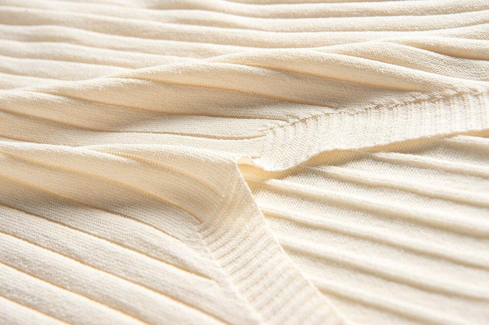 Quality Ice Silk Knit Loose Straight Maxi Dress Sleeveless VNeck Women Elegant Slim Women Fashion Thin Long Sweater Tank Dresses in Dresses from Women 39 s Clothing