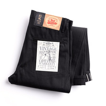 Raw Denim Jean-Pants Selvage Chino Vintage Trousers Size-28-42 Casual Mens Indigo DN-0002