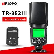 TRIOPO TR-982C III камера Вспышка Speedlite с регулируемым светодиодный заполняющий светильник универсальная вспышка с G4 триггером для Canon