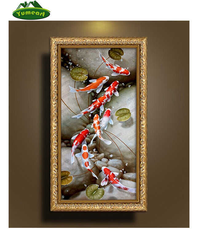 Diamond embroidery diamond mosaic fish picture of rhinestones 5d needlework diamond painting embroidery cross hobbies and crafts