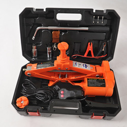 12V 3ton Electric Car Jack with Manual Wrench & Wheel chock&wireless remote Electric Auto Lift Scissor Jack Lifting Tool QZ041
