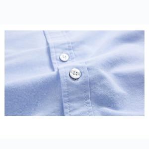 Повседневные мужские рубашки Оксфорд из чистого хлопка с длинным рукавом и вышивкой логотипа, Модная стильная рубашка