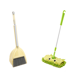 2019 Children Play house toys cute Cartoon Mini mop broom dustpan set cleaning tools Common sense training toys best for babys(China)