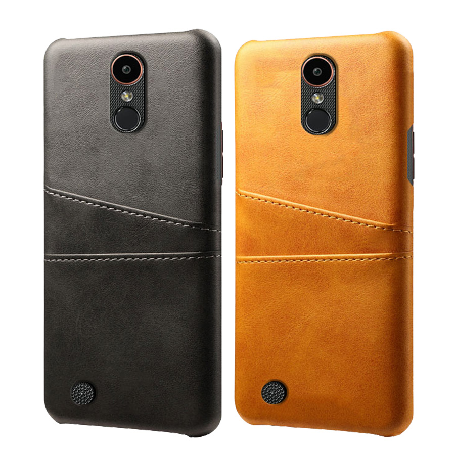Leather <font><b>Card</b></font> Holder Phone <font><b>Case</b></font> For <font><b>LG</b></font> Q6 V10 V20 <font><b>V30</b></font> V40 ThinQ V50 X Power 2 Power2 K40 K20 K50 Phone Cover image