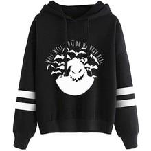 Women Halloween Print Sweatshirts Long Sleeve Drawstring Hooded Sweatshirt Tops Lady Hoodies outwear Women Clothing Feminina цены