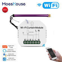 WiFi Mini Smart Curtain Switch Module Roller Blinds Shutter Motor Smart Life Tuya APP Remote Control Work with Alexa Google Home