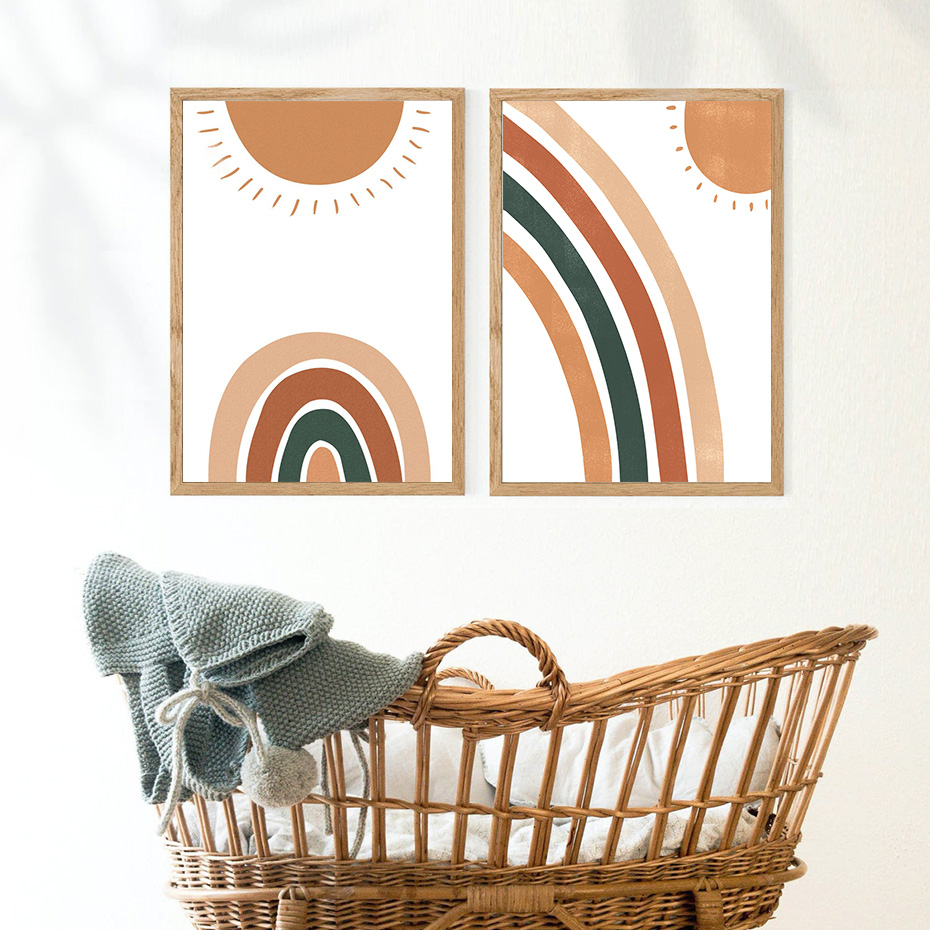 Trendy-Boho-Rainbow-Sun-Nursery-Baby-Decor-Canvas-Painting-Pictures-Wall-Art-Posters-Prints-for-Kids