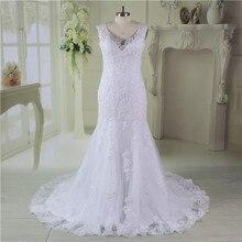 Mermaid Wedding Dress Sexy Illusion Back Vestido de Noiva 2019 Appliques Lace Formal Bridal Gown vestido festa longo