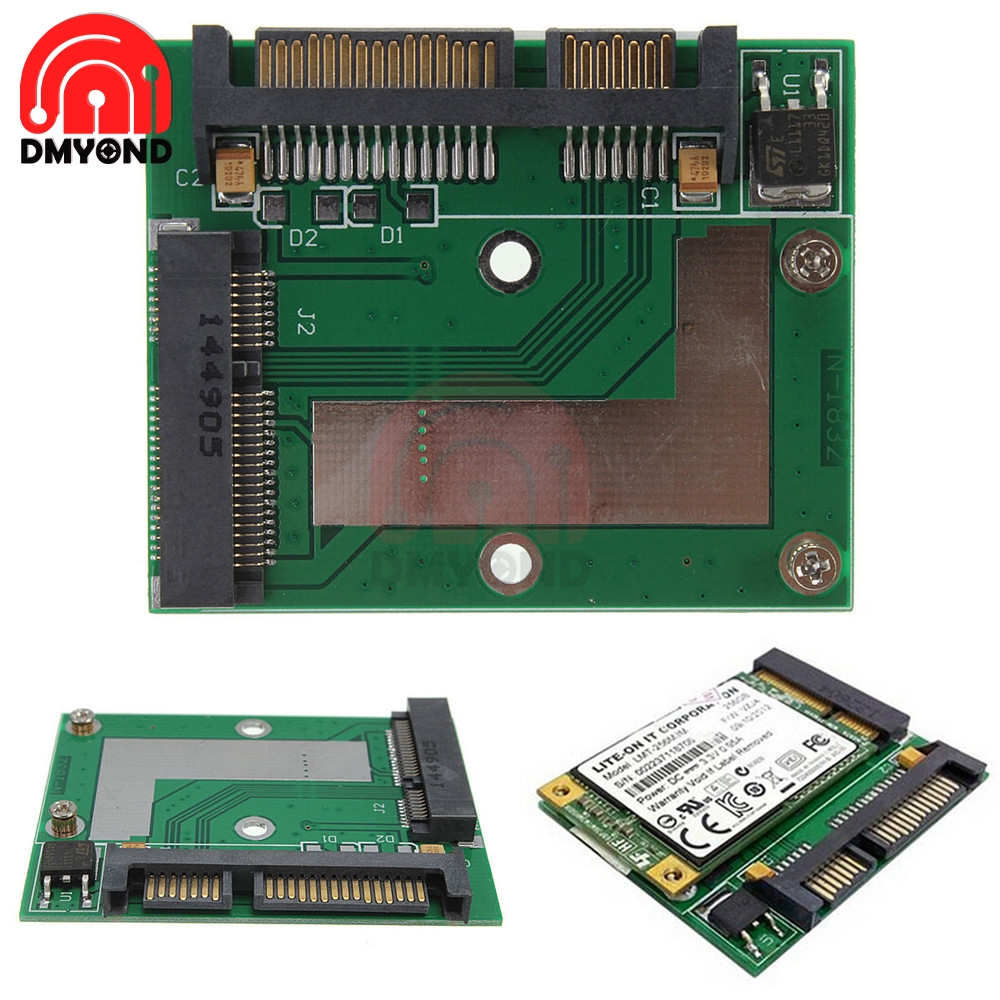 <font><b>mini</b></font> PCI-e msata 1.8 SSD to 2.5 IDE inch HDD Hard Drive 3.3V 44pin Card PCI Express Sata Converter Adapter Module For Laptop PC image