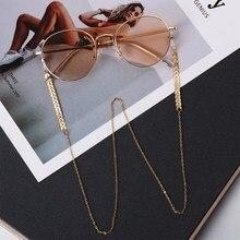 Cadenas de gafas de sol con perlas para mujer, 1 Uds., cadenas doradas, soporte para gafas de sol, collar, retenedor, accesorios