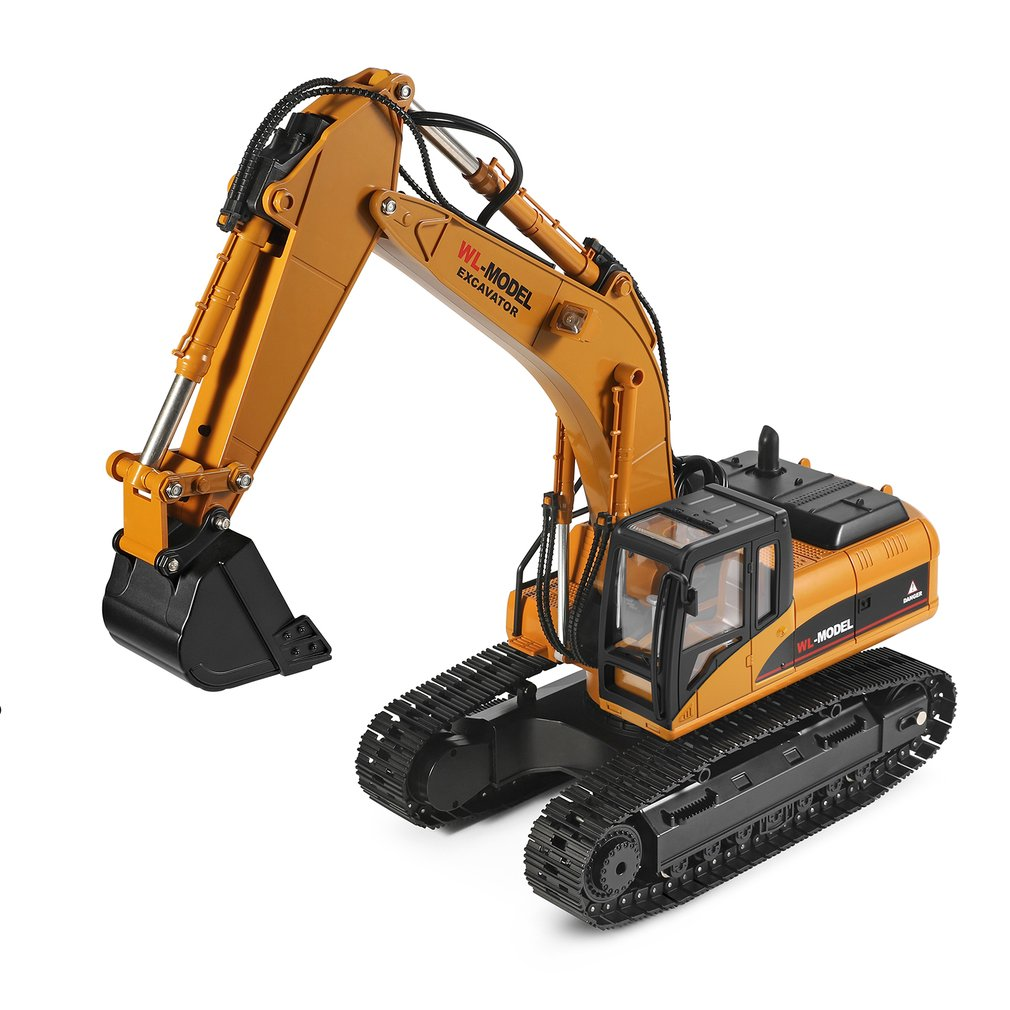 1pc 1:16 9CH Die-Cast Alloy Remote Control Excavator Engineering Truck Static Model Caterpillar Wheel Kids Toy image