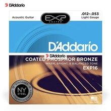 D'addario EXP16 струна для акустической гитары фосфористая бронза Сталь строка Daddario серии для гитары аксессуар EXP 16 строка