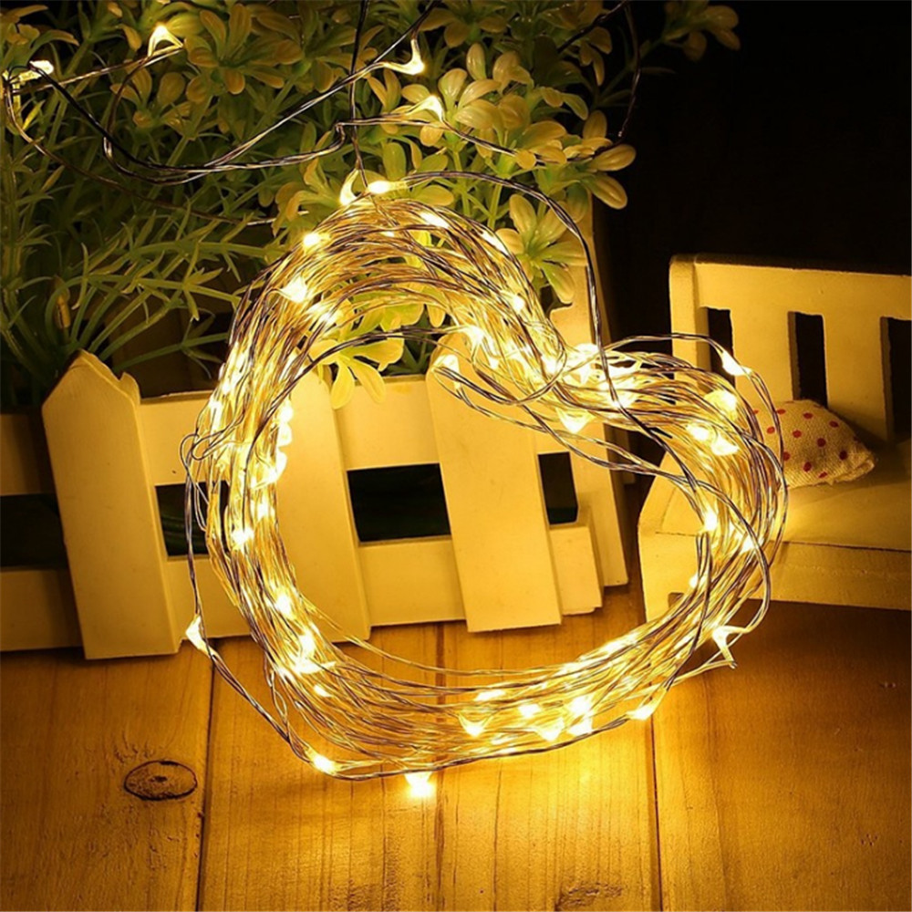 50-500 LED Outdoor Solar Lamp Fairy String Lights Waterproof Holiday Christmas Party Garland House Decoration DIY Garden Light